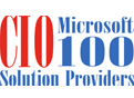 cio microsoft 100 solution providers logo