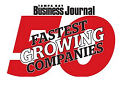 business journal 50 fastest growing companies logo