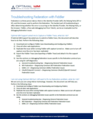 troubleshooting document