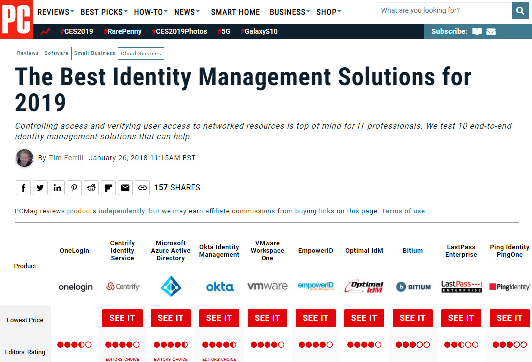 The Best Identity Management Solutions for 2019