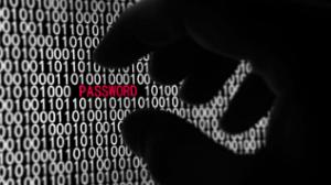 hand selecting password in binary code