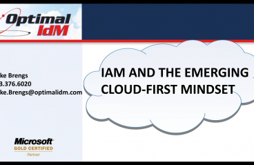 IAM - OptimalCloud Webinar