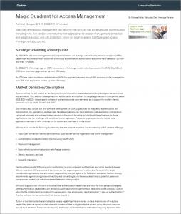 gartner magic quadrant for access management worldwide 2019