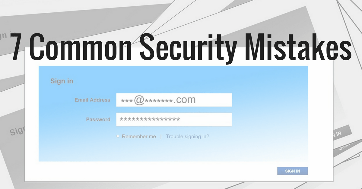 common-security-mistakes