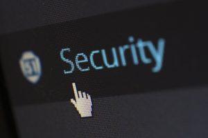 Security alert on computer screen