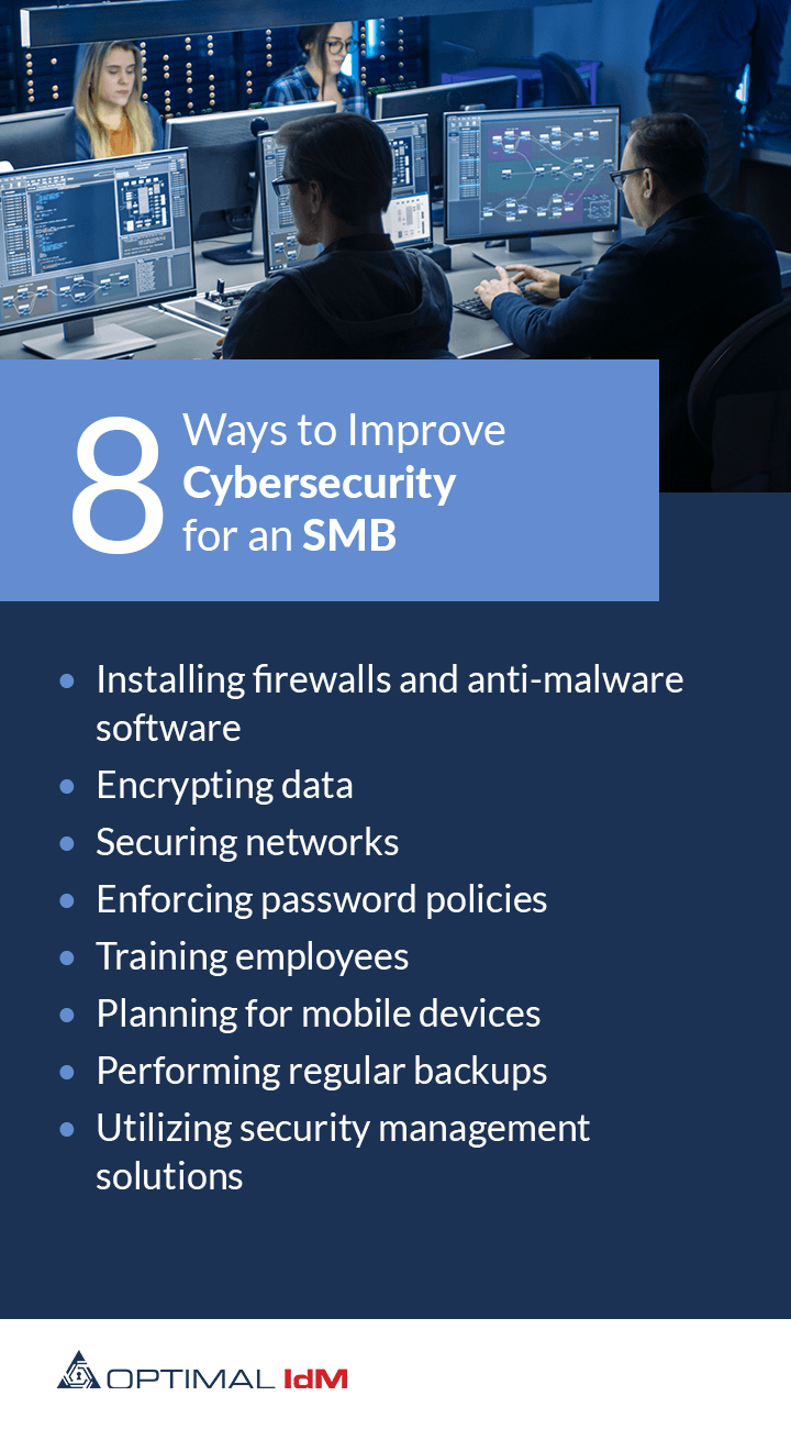 8 ways to improve cybersecurity for a small to mid size business