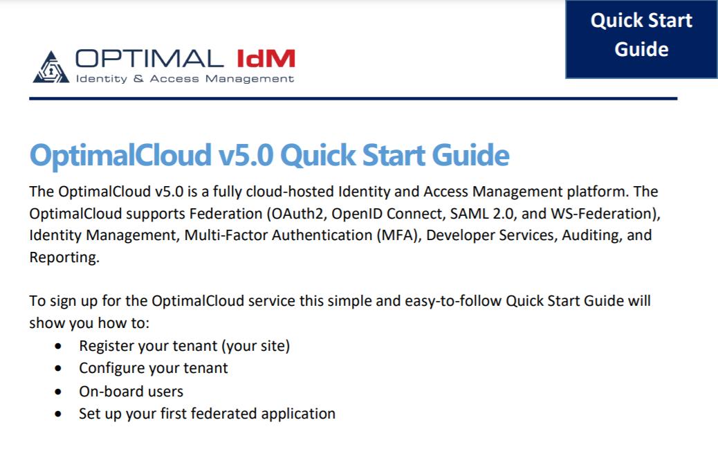 optimalcloud quick start guide